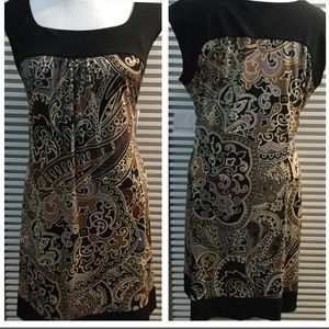 LIZ CLAIBORNE sz14 sleeveless paisley print dress